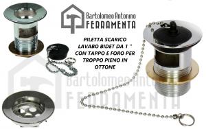 Piletta Lavabo in Ottone con Troppo Pieno-2