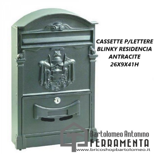 CASSETTE P/LETTERE BLINKY RESIDENCIA ANTRACIDE 26X9X41H