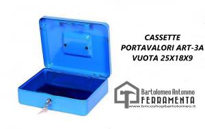 CASSETTE PORTAVALORI ART-3A VUOTA 25X18X9