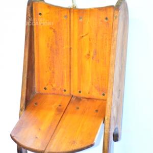 Slittino In Legno Vivo Vintage