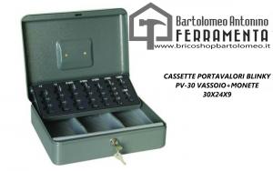 CASSETTE PORTAVALORI BLINKY PV-30 VASSOIO+MONETE 30X24X9