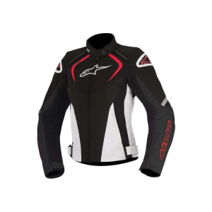 GIACCA MOTO ALPINESTARS STELLA T-JAWS WATERPROOF JACKET BLACK WHITE RED COD. 3211017