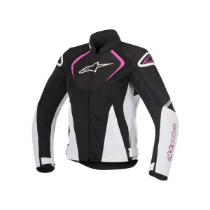 GIACCA MOTO ALPINESTARS STELLA T-JAWS V2 AIR JACKET BLACK WHITE FUCHSIA COD. 3311517