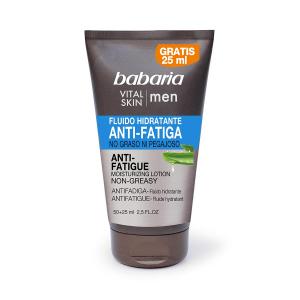 Babaria Vital Skin Men Fluido Di Idratazione Antistanchezza Non Unto 50+25ml