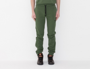 PANTALONE FELPA BOY LONDON +STAMPA+ZIP VERDE BLU5064