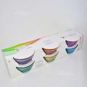 6 Coppette Pasabahce Vetro Colorate