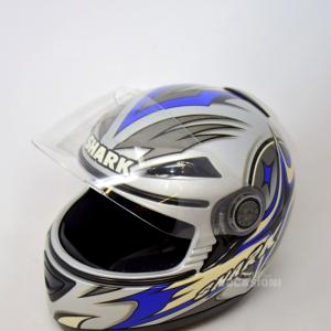 Casco Da Moto Shark Tg 55-56 Colore Grigio Blu