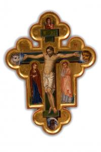 Croce dipinta di Svetlozar Mladenov 35 x 26 cm