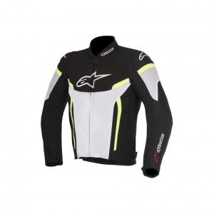 GIACCA MOTO ALPINESTARS T-GP PLUS R V2 BLACK WHITE YELLOW COD. 3300517