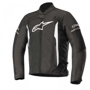 GIACCA MOTO ALPINESTARS T-FASTER AIR JACKET BLACK WHITE COD. 3303618