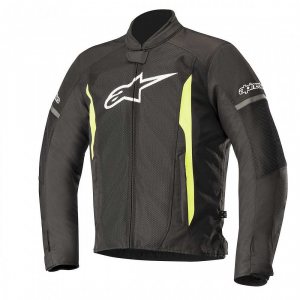 GIACCA MOTO ALPINESTARS T-FASTER AIR JACKET BLACK YELLOW FLUO COD. 3303618