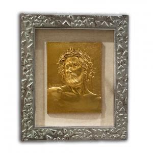 Quadro Cristo Bassorilievo Dorato 53 x 45,5 cm