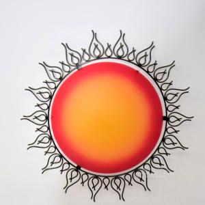 Lampadario Plafoniera Sole Rosso