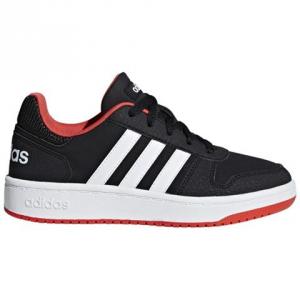 SNEAKERS ADIDAS HOOPS 2.0 K B76067 BLACK/WHITE/RED