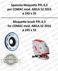 SPAZZOLA MOQUETTE ppl 0,3 per lavapavimenti COMAC mod. ABILA 52 2010 con 3 pioli
