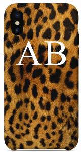 Cover Leopardata Iniziali Bianche