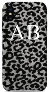 Cover Leopardata Grigia Iniziali Bianche