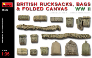BRITISH RUCKSACKS, BAGS & FOLDED CANVAS WW2