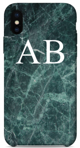 Cover Marble Green Edition Iniziali Bianche