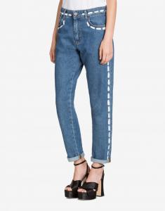 Jeans con Trompe l'Oeil Stitchings