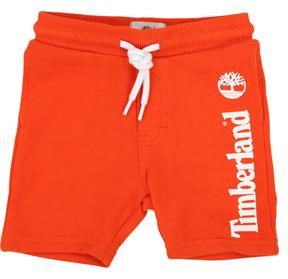 Pantaloncino arancione con stampa logo bianco