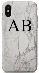 Cover Marble White Edition Iniziali Nere