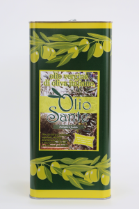 Olio vergine Ogliarola 5L 2018/19 - Olio vergine di oliva Pugliese cultivar Ogliarola Sante in Latta da 5 Litri - Terre di Ostuni