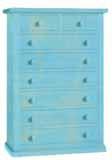 Cassettiera 8 cassetti laccato consumato