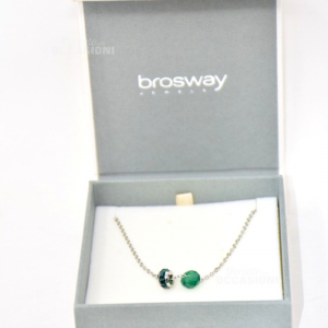 Collana Brosway Verde Acciaio