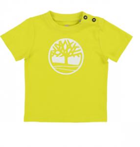 T-Shirt con bottoni e stampa logo