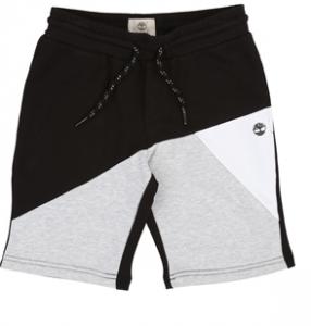 Pantaloncino a tuta nero con fondo grigio e bianco