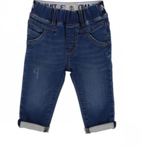 Jeans blu scuro con vita elasticizzata