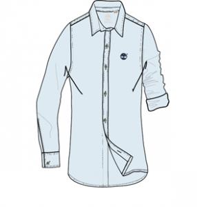 Camicia celeste con ricamo logo