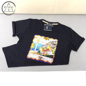Fefè Glamour - T-shirt cotone e seta - Positano - Navy - SS 2019
