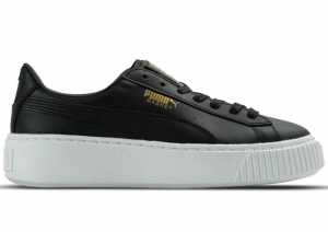 SNEAKERS PUMA BASKET PLATFORM CORE BLACK-GOLD 364040 03