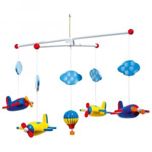 Giostrina Giostra gioco Viaggio in cielo arredo cameretta in legno per bambini