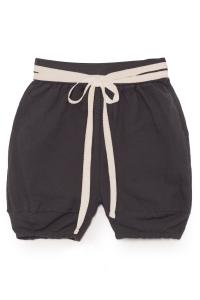 Pantaloncini neri con laccio beige