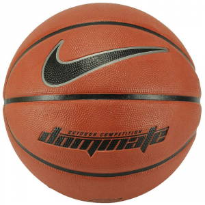 PALLA DA BASKET NIKE DOMINATE 8P BASKETBALL,UNISEX,N.KI.00.847.07,AMBER/BLACK/MTLC PLATINUM/BLACK,07