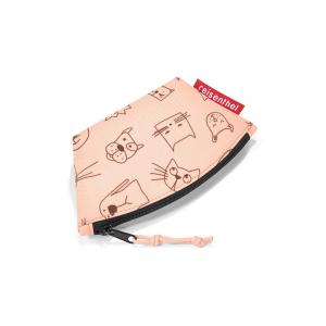 Reisenthel - Wallet S Kids - Portamonete per bambina con cani e gatti rosa cod. IW3064