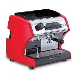 Macchina caffè La Spaziale S1 ROSSINI rossa, semiautomatica ad erogazione continua.