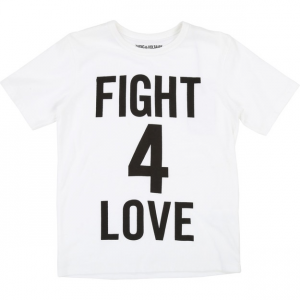 T-Shirt bianca con stampa scritta nera