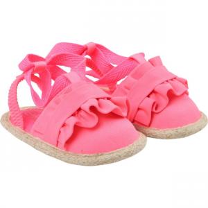 Sandali rosa con lacci