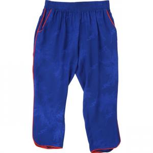 Pantalone da pigiama blu con strisce rosse