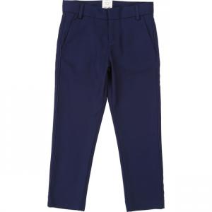 Pantalone blu scuro con vita regolabile