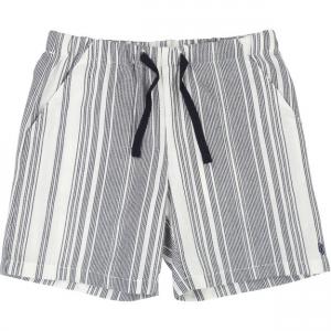Pantaloncino a righe bianche e grigie