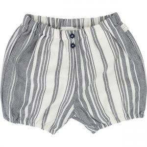 Pantaloncino a righe grigie e bianche