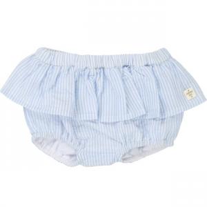 Pantaloncino a righe bianche e blu