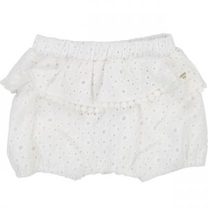 Pantaloncino bianco con pois