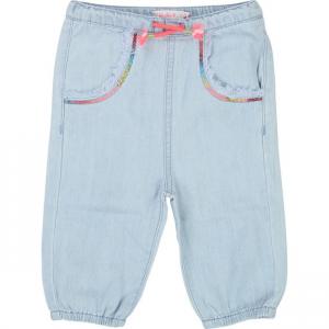 Jeans celeste chiaro con paillettes sulle tasche