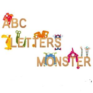 Lettera dell'alfabeto in bambù nome Bambini Decorazione cameretta Dalla A alla Z
